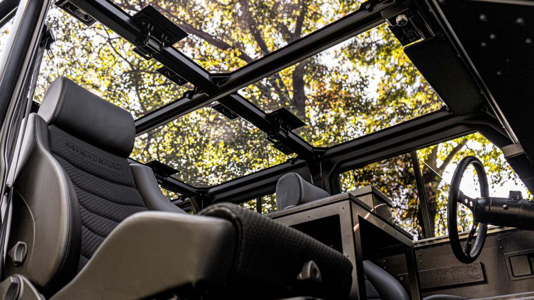 Bollinger Motors B1 interior glass outdoors