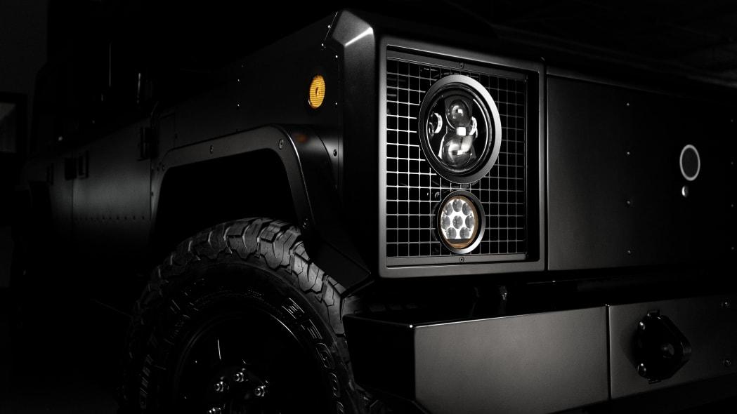 Bollinger Motors headlight detail studio
