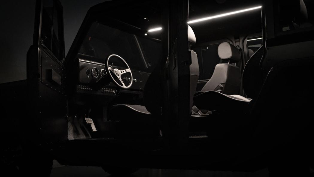 Bollinger Motors driver side interior studio