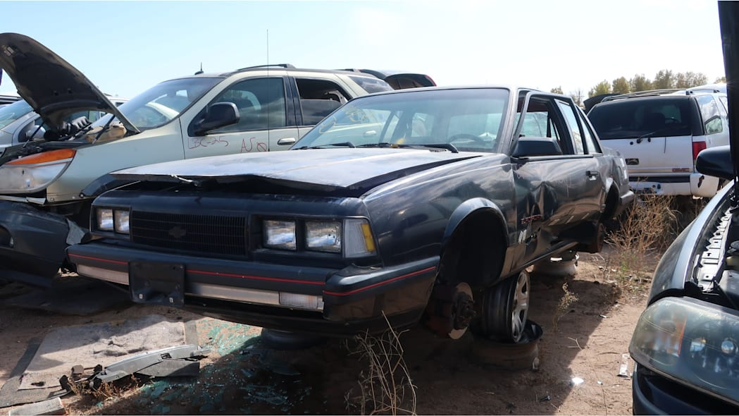 30 - 1986 Chevrolet Celebrity Eurosport in Colorado junkyard - photo by Murilee Martin