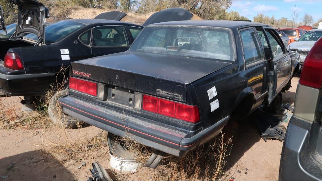 37 - 1986 Chevrolet Celebrity Eurosport in Colorado junkyard - photo by Murilee Martin