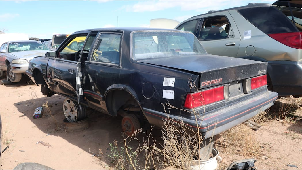 51 - 1986 Chevrolet Celebrity Eurosport in Colorado junkyard - photo by Murilee Martin