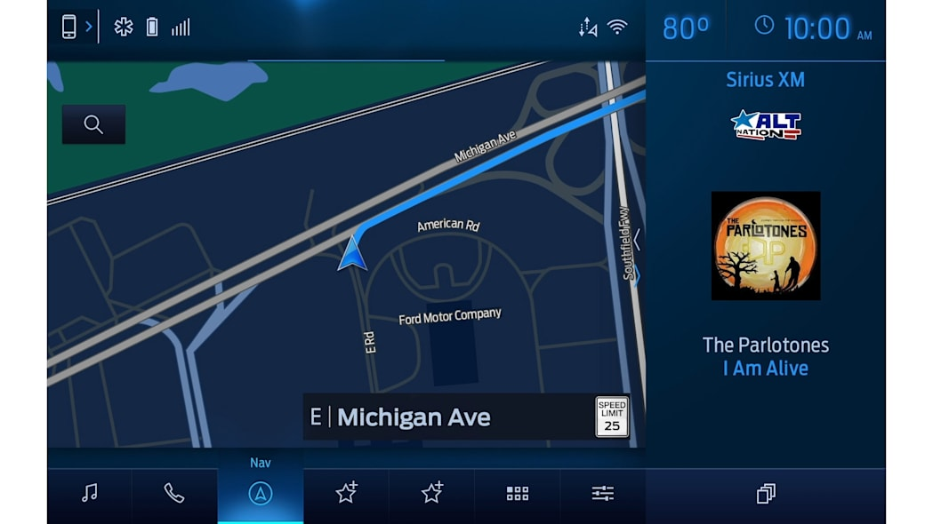 Ford Sync 4 infotainment system