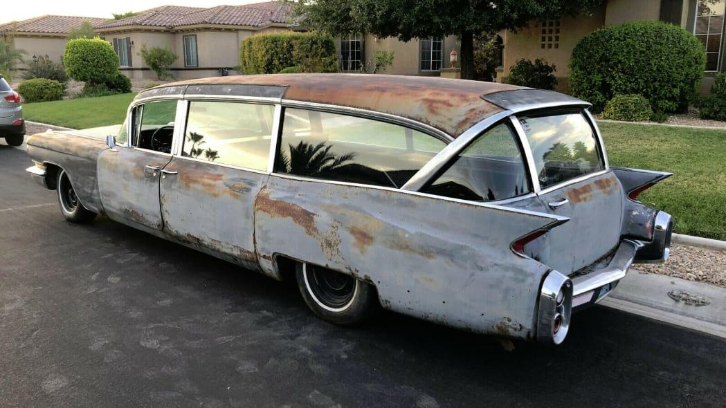 1960 hearse, LR