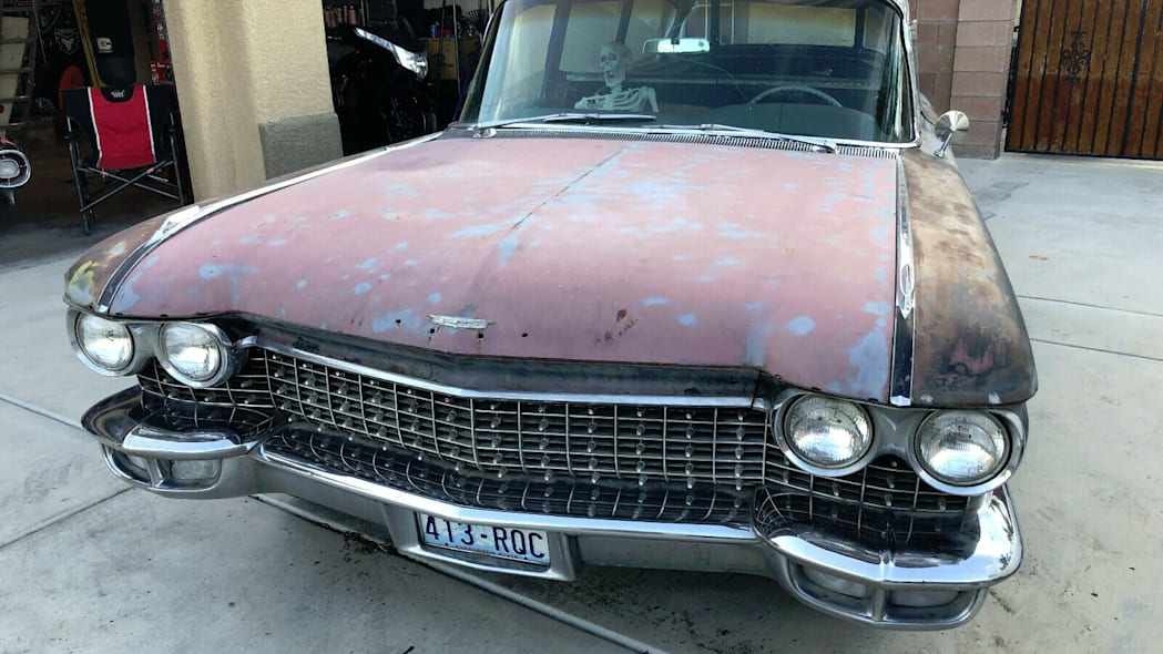 1960 hearse, front