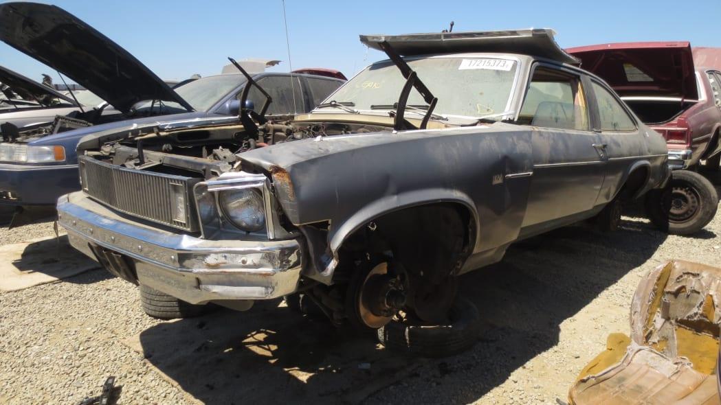 05 - 1978 Chevrolet Nova in California junkyard - photo by Murilee Martin