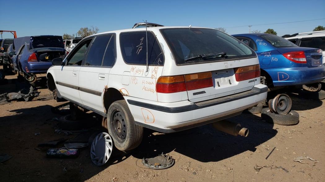 12 - 1992 Honda Accord wagon in Colorado junkyard - photo by Murilee Martin