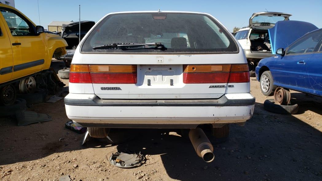 14 - 1992 Honda Accord wagon in Colorado junkyard - photo by Murilee Martin
