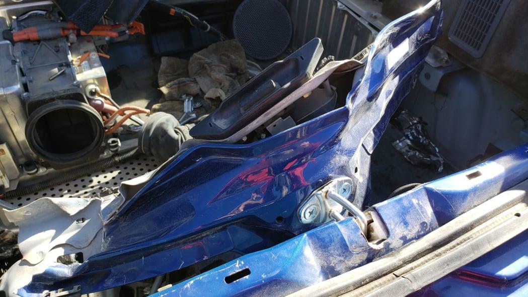 10 - 2001 Honda Insight in Colorado junkyard - photo by Murilee Martin