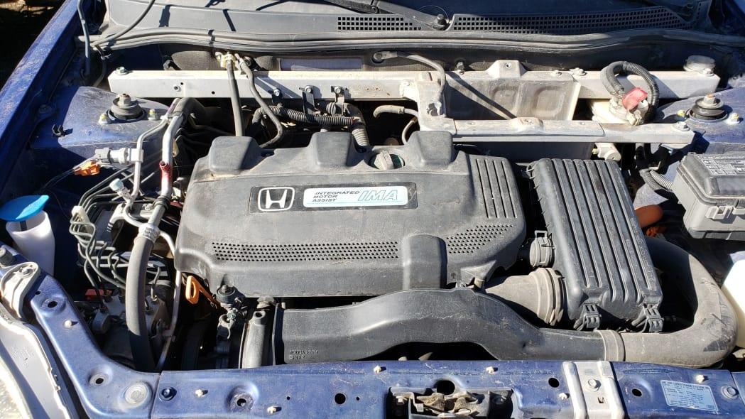 16 - 2001 Honda Insight in Colorado junkyard - photo by Murilee Martin