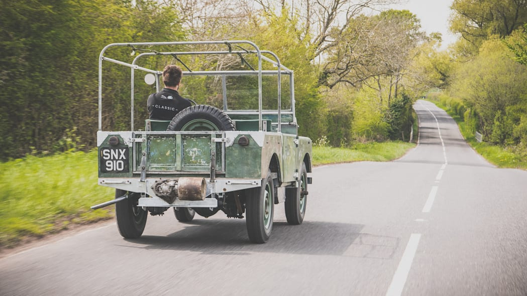 Restored Land Rover from 1948 Amsterdam Show