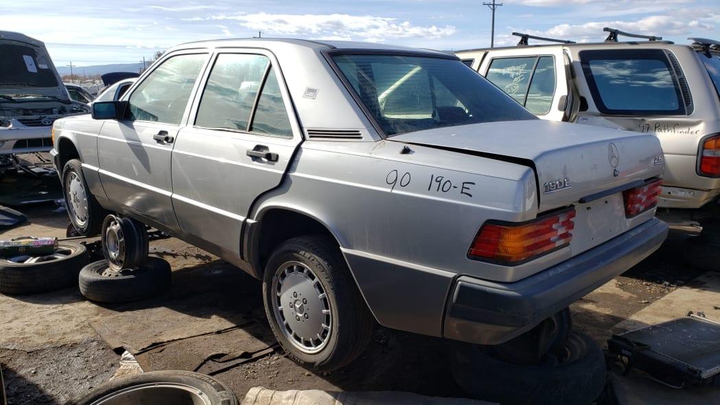 23 - 1990 Mercedes-Benz 190E 2.6 in Colorado junkyard - photo by Murilee Martin