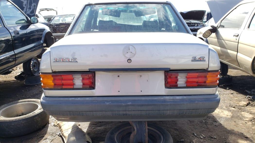 24 - 1990 Mercedes-Benz 190E 2.6 in Colorado junkyard - photo by Murilee Martin