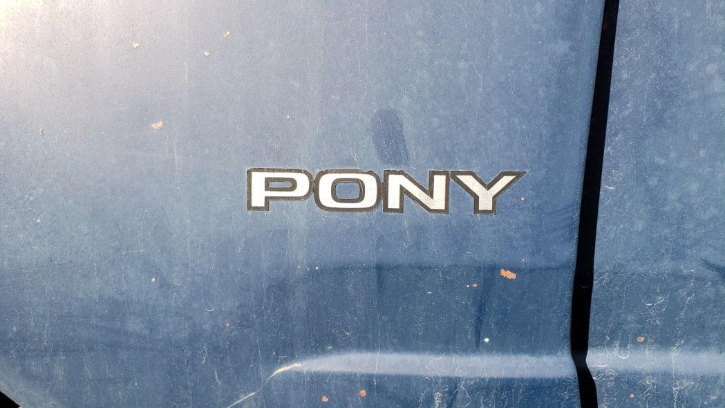 28 - 1986 Ford Escort Pony in Colorado junkyard - photo by Murilee Martin