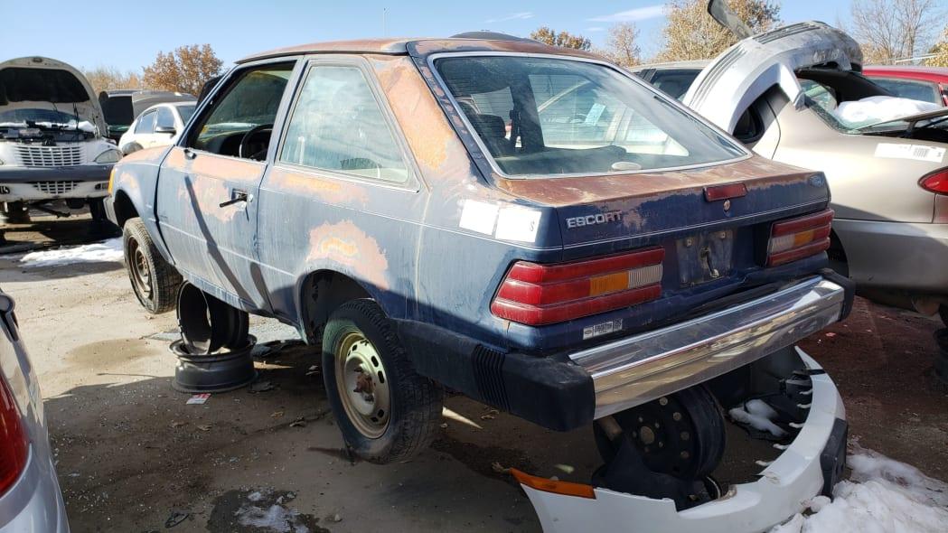 29 - 1986 Ford Escort Pony in Colorado junkyard - photo by Murilee Martin