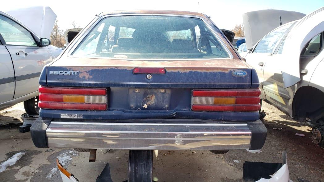 35 - 1986 Ford Escort Pony in Colorado junkyard - photo by Murilee Martin