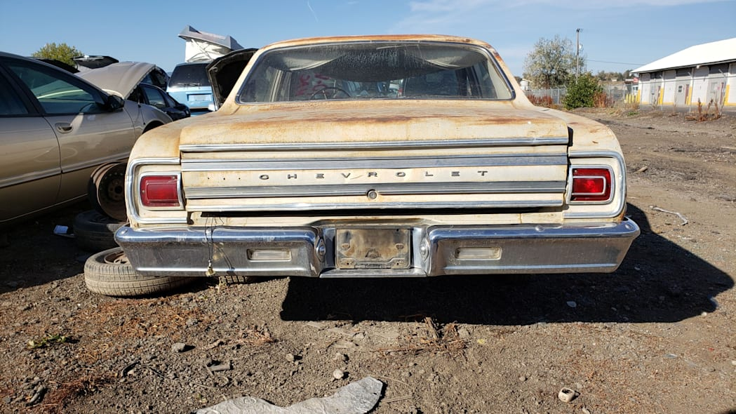 66 - 1965 Chevrolet Malibu in Colorado junkyard - photo by Murilee Martin
