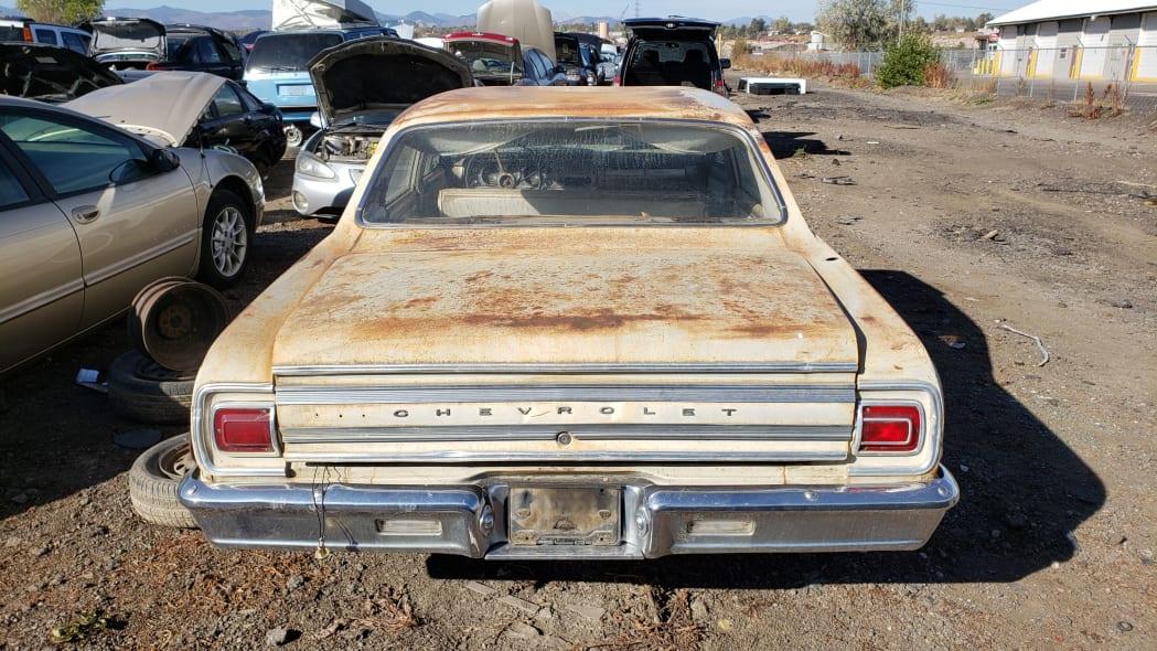 69 - 1965 Chevrolet Malibu in Colorado junkyard - photo by Murilee Martin