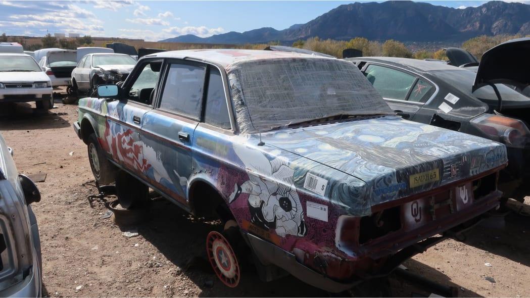 28 - 1990 Volvo 240 DL sedan in Colorado junkyard - photo by Murilee Martin