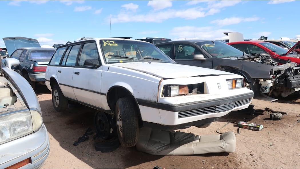 46 - 1987 Oldsmobile Firenza wagon in Colorado junkyard - photo by Murilee Martin