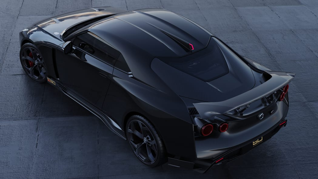 Nissan GT-R50 by Italdesign production rendering Black RR TOP