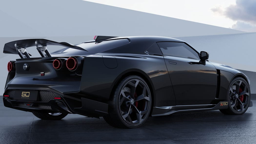 Nissan GT-R50 by Italdesign production rendering Black RR34
