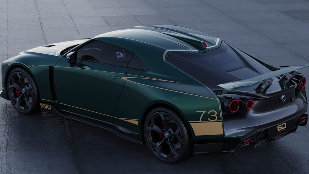 Nissan GT-R50 by Italdesign production rendering Green RR TOP