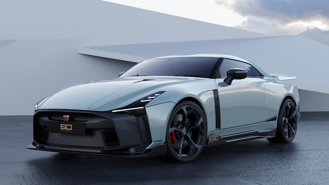 Nissan GT-R50 by Italdesign production rendering Mint FR34