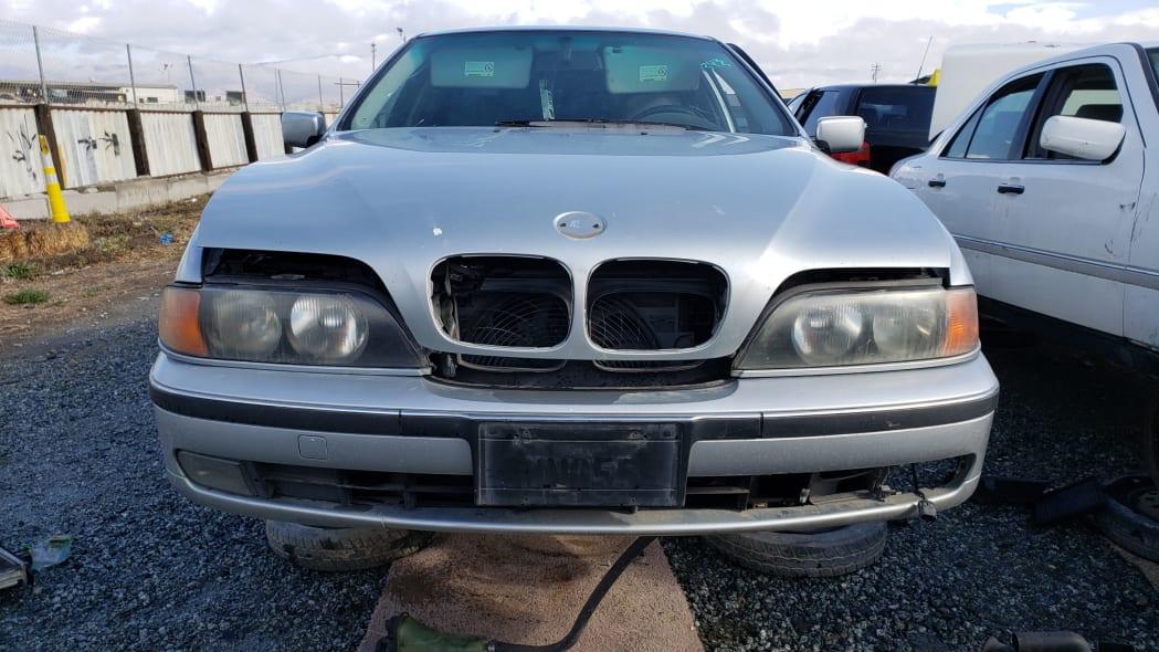 17 - 1998 BMW 528i in California junkyard - photo by Murilee Martin