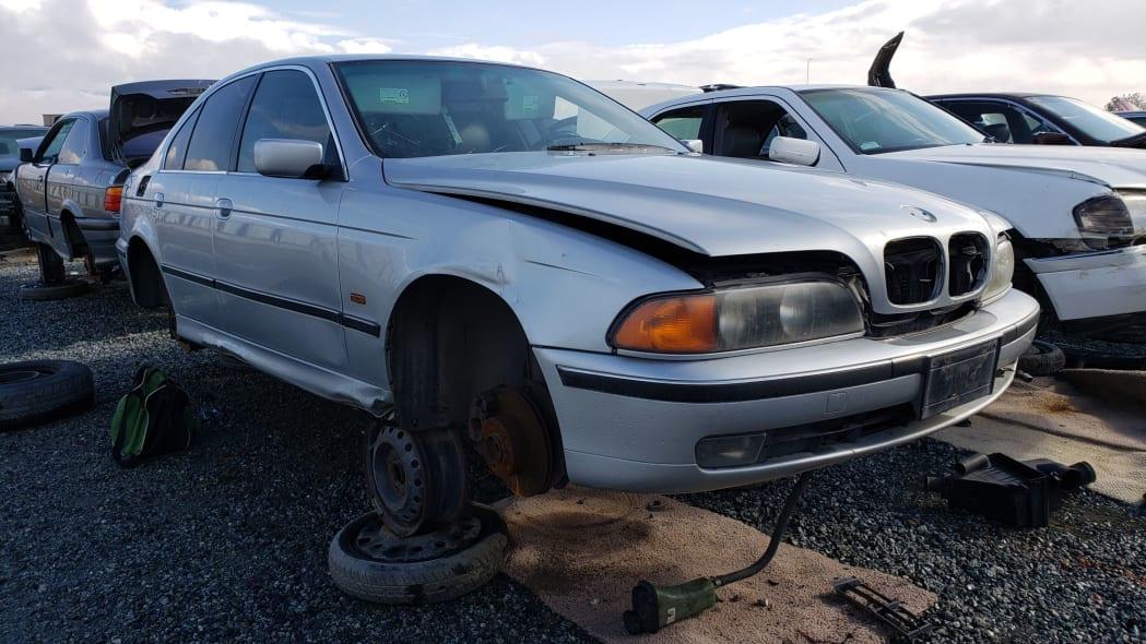 18 - 1998 BMW 528i in California junkyard - photo by Murilee Martin