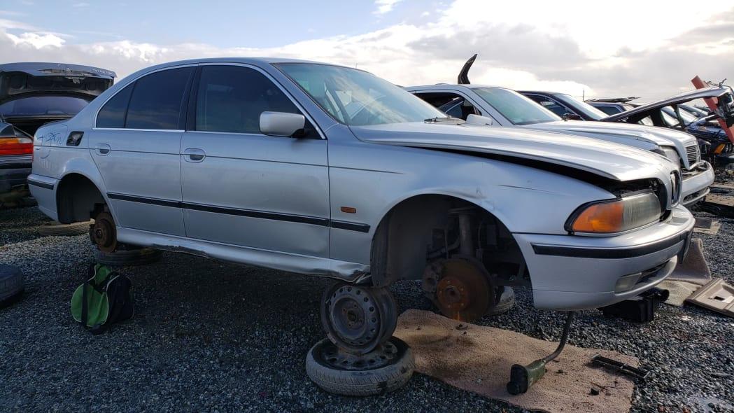 20 - 1998 BMW 528i in California junkyard - photo by Murilee Martin