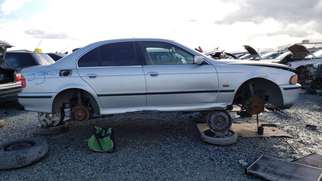 23 - 1998 BMW 528i in California junkyard - photo by Murilee Martin