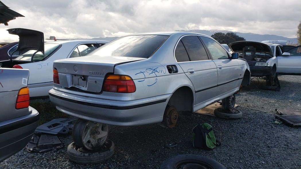 26 - 1998 BMW 528i in California junkyard - photo by Murilee Martin
