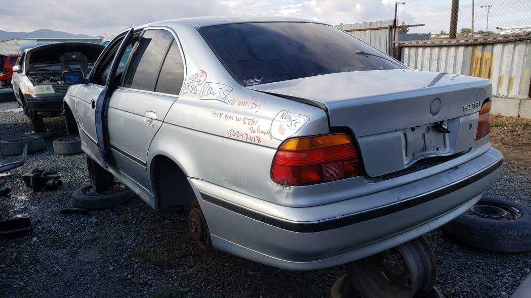 29 - 1998 BMW 528i in California junkyard - photo by Murilee Martin
