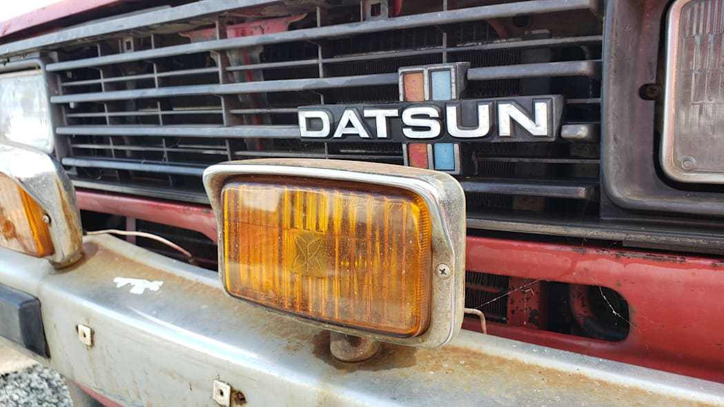 39 - 1980 Datsun 4x4 Pickup in California junkyard - photo by Murilee Martin