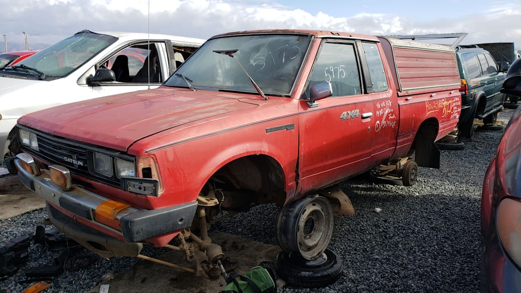 41 - 1980 Datsun 4x4 Pickup in California junkyard - photo by Murilee Martin