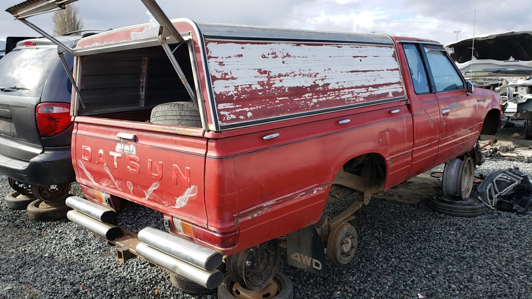 55 - 1980 Datsun 4x4 Pickup in California junkyard - photo by Murilee Martin