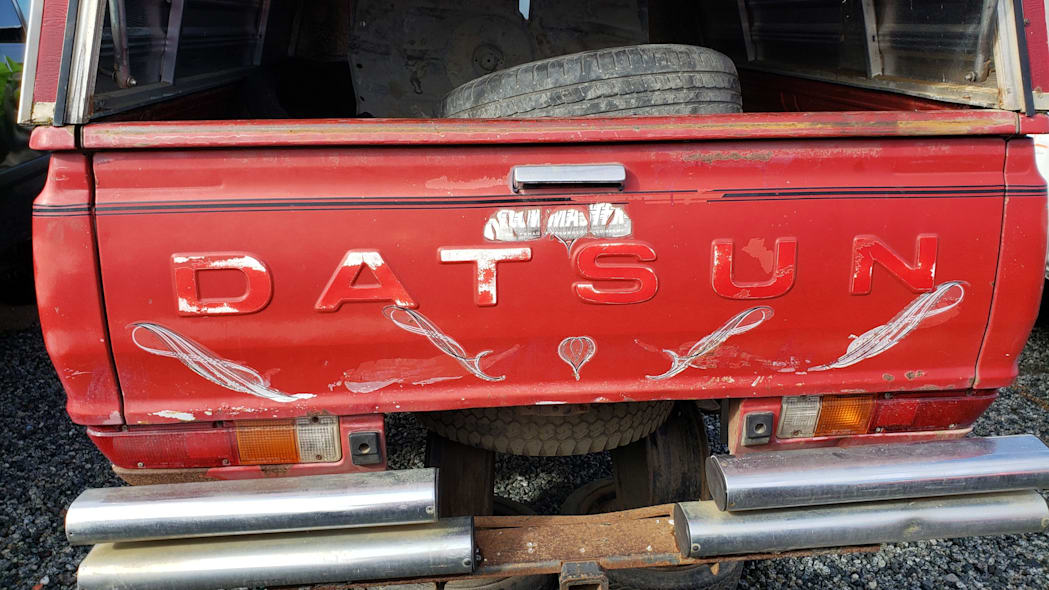 58 - 1980 Datsun 4x4 Pickup in California junkyard - photo by Murilee Martin