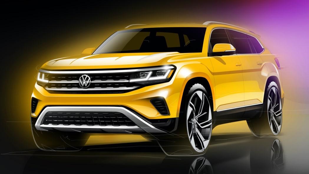 Volkswagen previews updated 2021 Atlas crossover