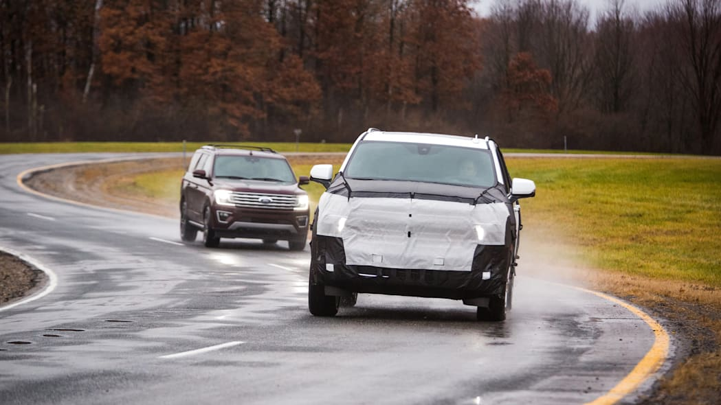 Camouflaged 2021 Chevrolet Tahoe