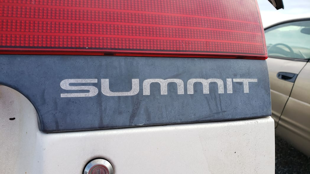 24 - 1992 Eagle Summit AWD in California junkyard - photo by Murilee Martin