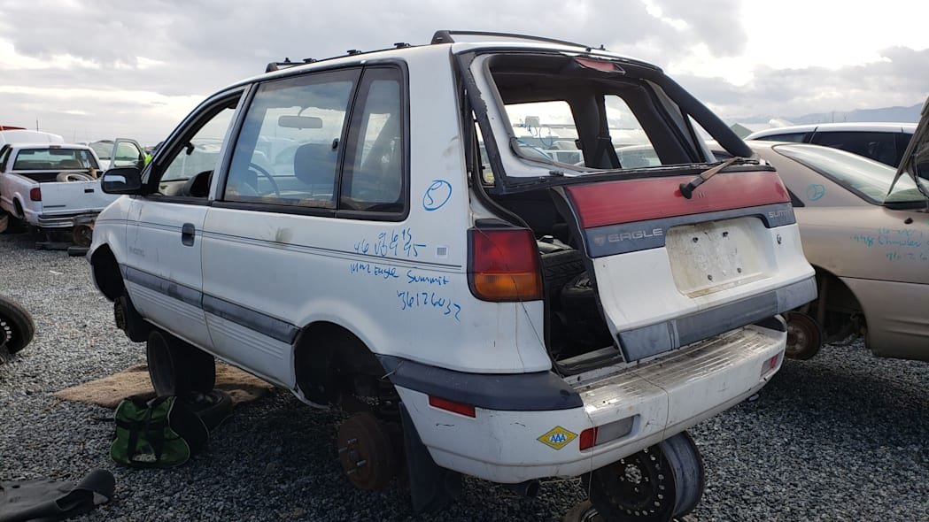 30 - 1992 Eagle Summit AWD in California junkyard - photo by Murilee Martin
