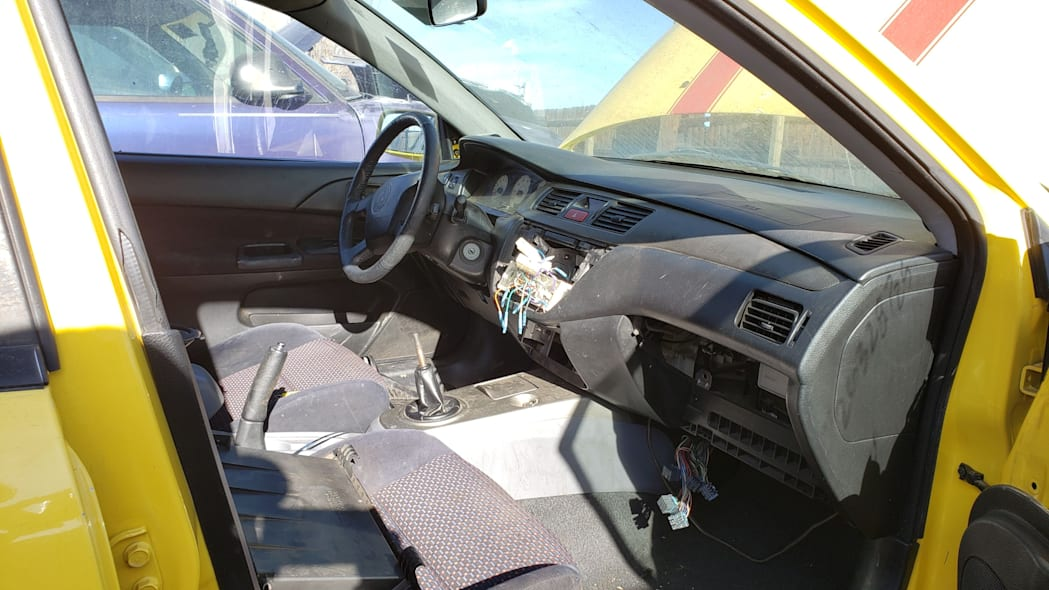 07 - 2005 Mitsubishi Lancer Ralliart in Colorado junkyard - photo by Murilee Martin
