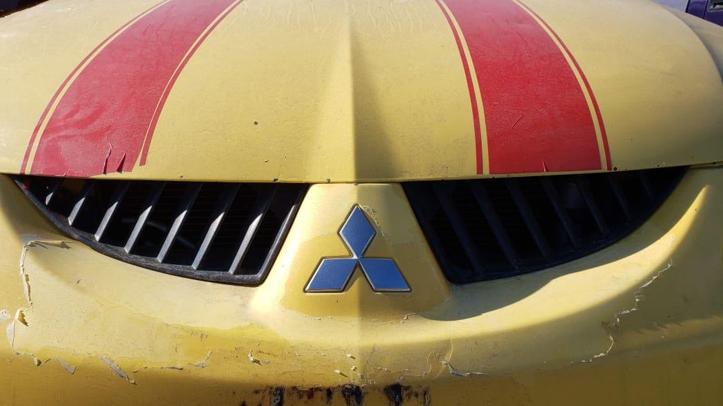 18 - 2005 Mitsubishi Lancer Ralliart in Colorado junkyard - photo by Murilee Martin