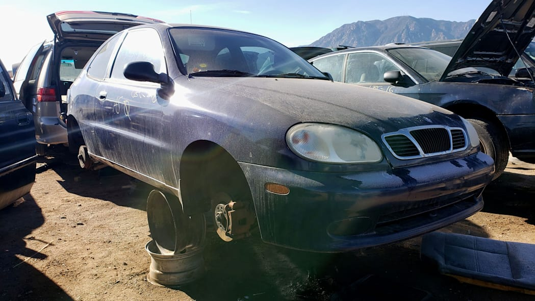 19 - 2002 Daewoo Lanos in Colorado junkyard - photo by Murilee Martin