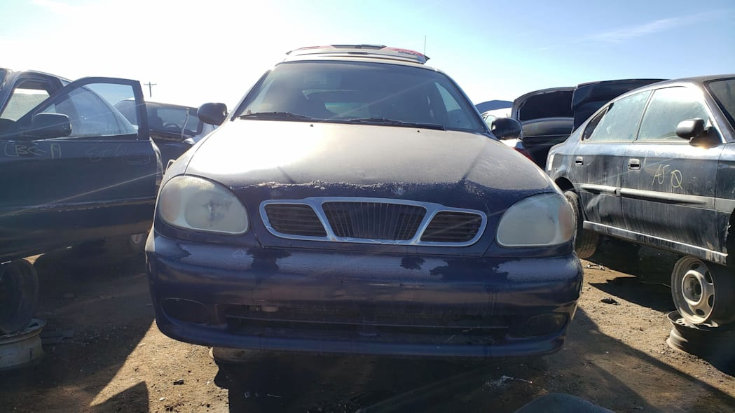 23 - 2002 Daewoo Lanos in Colorado junkyard - photo by Murilee Martin