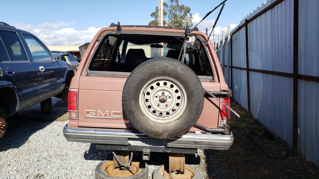 26 - 1990 GMC Jimmy in California junkyard - photo by Murilee Martin