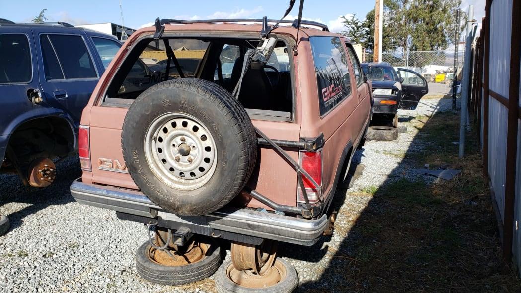 28 - 1990 GMC Jimmy in California junkyard - photo by Murilee Martin