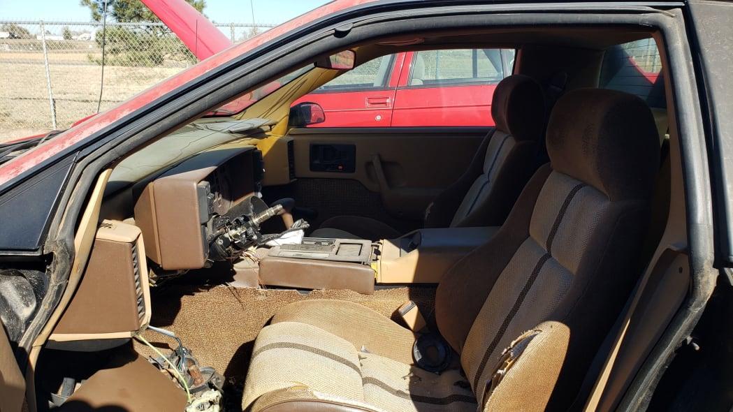 05 - 1984 Pontiac Fiero in Colorado junkyard - photo by Murilee Martin