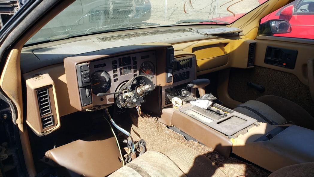 07 - 1984 Pontiac Fiero in Colorado junkyard - photo by Murilee Martin